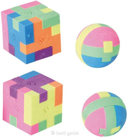 Puzzle Eraser & Ball and Cube